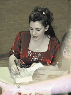 Stephenie Meyer signed 1,000 books at the prom in May.