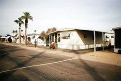 Be it ever so humble: Orr&amp;#146;s new home in an East Valley mobile home park.