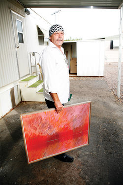 In better days, Orr didn't have time to store paintings; they flew off his walls.