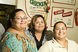 Jennifer, Angela, and Josephine Hernandez of Carolina's make chimichangas from the best tortillas in town.