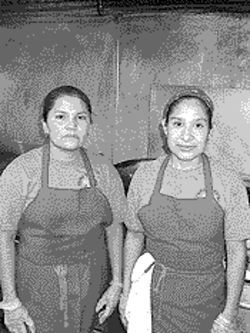 Cooks Martha Ramirez and Maria Hernandez.