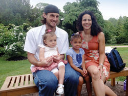 Kluwe met his wife, Isabel, while attending UCLA.