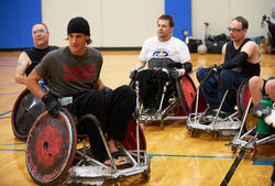 The punter spent a day in a wheelchair earlier this month for a documentary on spinal-cord injuries, ending with Kluwe scrimmaging against a wheelchair rugby team in Moundsview.