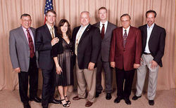 Right-wing power clique: Simcox (second from left), circa 2007, with former Arizona legislator Russell Pearce, Maricopa County Attorney Andrew Thomas, and Sheriff Joe Arpaio.