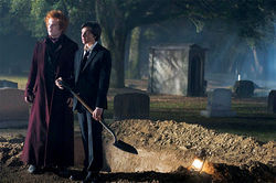 This film's gonna need a bigger grave: John C. Reilly and Chris Massoglia barely have a pulse in Cirque du Freak: The Vampire's Assistant.