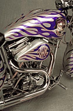 The flames and skulls indicate that motorcycles are fun and exciting.