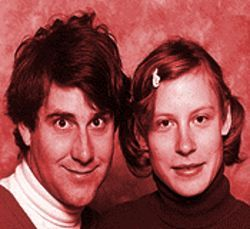 "Turtleneck chic: COiN's live duo, Thermos Malling (left) and the mysterious ""Walter."""