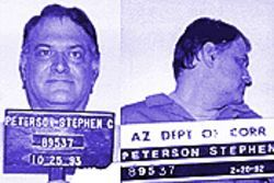 Steve Peterson, in photos taken during his incarceration at the Arizona State Prison.