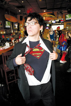 Superman, as seen at Tavern on Mill