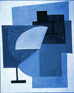 "Non-Objective Composition, 1912, oil on canvas by Olga Rozanova, from ""Painting Revolution: Kandinsky, Malevich and the Russian Avant Garde."""
