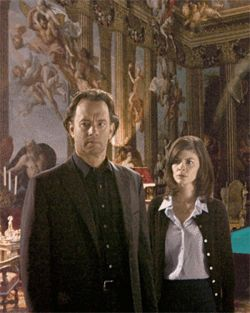 Louvre story: Tom Hanks and Audrey Tautou try to unravel the mysteries of The Da Vinci Code.