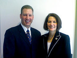 Nevada Attorney General Catherine Cortez Masto posed with Todd Davis last June, then joined the FTC&#039;s suit against LifeLock.