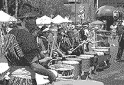 Making a hit: Explore Japanese taiko drumming.