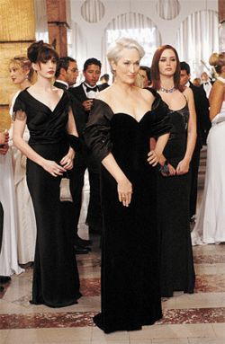 Fashion plates: From left, Anne Hathaway, Meryl Streep and Emily Blunt star in The Devil Wears Prada.