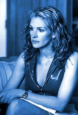 Scrappy days: Julia Roberts in Erin Brockovich.