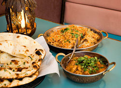 Curry Corner's food appears as it would in Pakistani homes, says owner Farah Khalid.