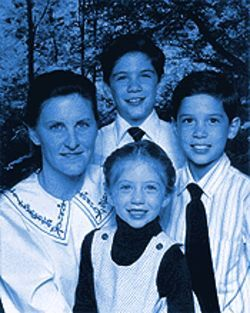 Kelly Blake and her three children, clockwise from top, Johhny, Raymond and Venessa.