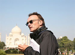 Slumdog Millionaire director Danny Boyle, on location in Mumbai