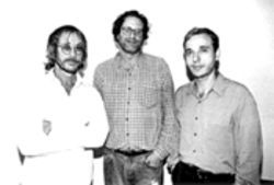 I'd vote for any of these guys over Joe Lieberman: Danny Goldberg, middle, stands with Warren Zevon, right, who's signed to Goldberg's Artemis label.