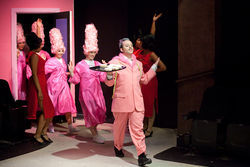 Wigs ahoy!: Beauty school dropouts parade through Hairspray.