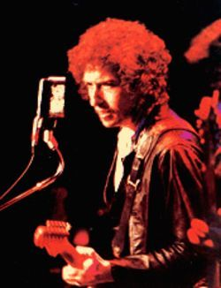 Bob Dylan: Spreading the word on his evangelical 1979-80 tour.