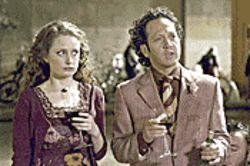 Hooker, line and sinker: Rob Schneider (right, with Zoe Telford) somehow makes his tasteless shtick work in Deuce Bigalow: European Gigolo.