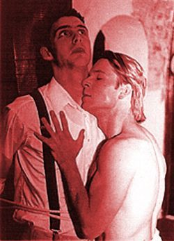 Michael Sherwin (right) tortures Michael Peck in Lillies.
