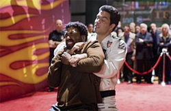 No Hong Kong high jinks: Chiwetel Ejiofor (left) is a natural Mametian victim in Redbelt.