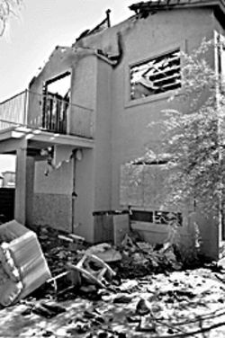 An Ahwatukee residence looked more like a war zone, following a MCSO strike.