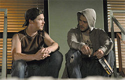 Touch of evil: Shawn Hatosy (left) and Justin Timberlake are gang members contemplating a murder in Alpha Dog.