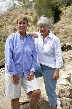 Miriam Hayenga (left) and her partner, Mary Slaughter.