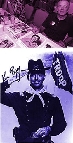 "Ken Berry, F Troop's ""Captain Parmenter,"" peddles his signature at $10 a pop for ""walking-around money."""