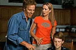 Family fare: Greg Germann, Lauren Holly and Adam Hicks star in the inoffensive, and rather trite, Down and Derby.