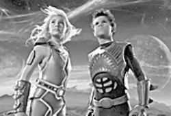 Dream weavers: Taylor Dooley (left) and Taylor Lautner are fantasy-world superheroes in The Adventures of Sharkboy & Lavagirl in 3-D.