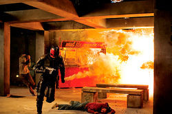 A scene from Dredd 3D