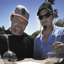 Robert Stempkowski, left, and Stephen Wolff are empty-glass and glassy-eyed after months of battling for a liquor license.