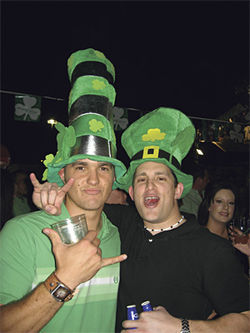 Drunkards galore at Rosie McCaffrey's St. Patrick's day celebration on Saturday, March 17