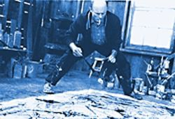 Making a splash: Ed Harris as Jackson Pollock, turbulent artist.