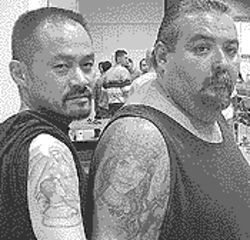 Ain&#039;t nothin&#039; but a G thang: Moritoki (left) shows off his tats.