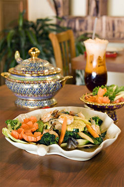 From Mediterranean cuisine to pizza to Asian specialties at Nunthaporn's Thai Cuisine (pictured), downtown Mesa offers a handful of accessible dining options.
