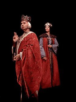 Greg London as Enrico and Darby Winterhaller as Countess Matilda Spina in Enrico IV.
