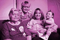 Four Fields, four generations: The Rosales family  --  Imidana, 78, Natalia, 51, Myra, 23, and Joeanna, 10 months.