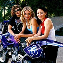 Drew Barrymore, Cameron Diaz and Lucy Liu in  Charlie&#039;s Angels: Full Throttle. 