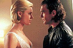 Violent Femme: Rebecca Romijn-Stamos tempts Antonio Banderas with a Fatale attraction.