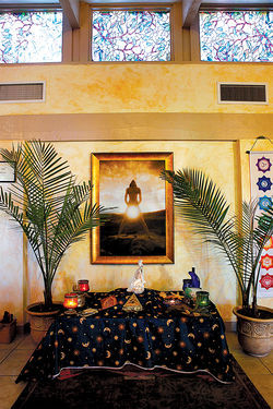 Erotic artwork fills Phoenix Goddess Temple.