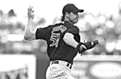 Base commander: Randy Johnson ranks among the Diamondbacks' armed forces.