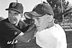 Lou Klimchock, who played 12 years in the majors,  coaches a club baseball team that includes his grandson,  Mitchell Nay. Klimchock is also director of the 300- member Arizona Major League Alumni Association.