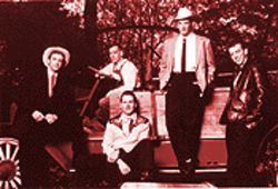 "BR5-49: From left, Chuck Mead, Don Herron, ""Hawk"" Shaw Wilson, Gary Bennett and ""Smilin'"" Jay McDowell."