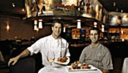 Big fish: Executive chef John Carver (left) and general manager Brad Cox.