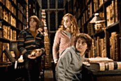 Those meddling kids: From left, Rupert Grint, Emma Watson and Daniel Radcliffe are back in action in Harry Potter and the Goblet of Fire.